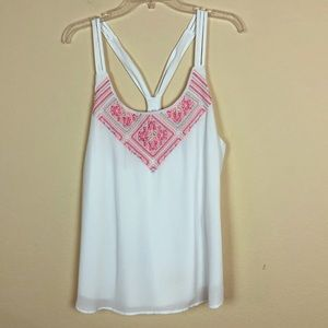 Maurices Embroidered Sleeveless Top